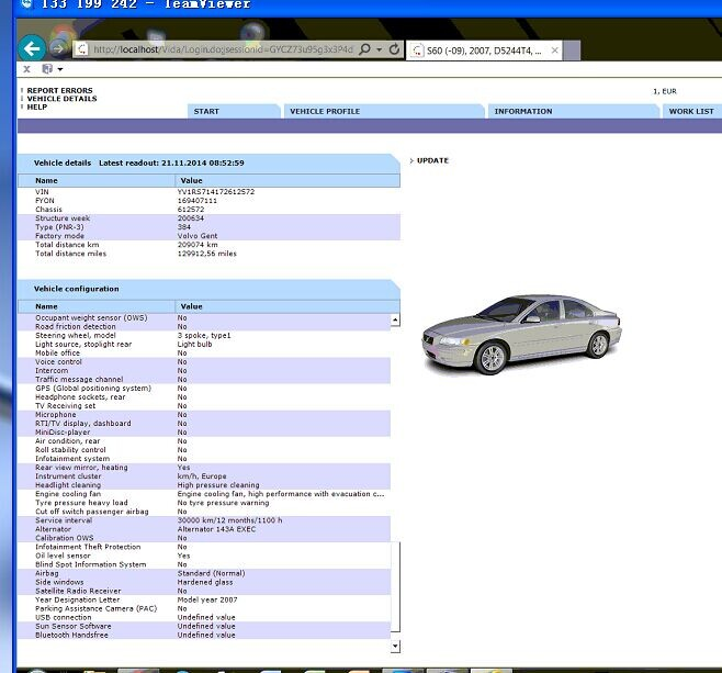 How To Reset Volvo S60 SRS Airbag Warning Light By VOLVO
